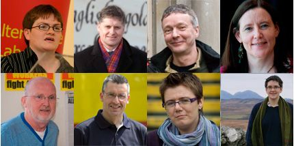 Top: Angela Gorrie, Colin Fox, Colin Turbett, Frances Curran, Bottom: Jim Bollan, Kevin McVey, Morag Balfour, Pam Currie