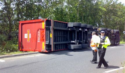 Royal Mail lorry crashed by unqualified managment strike breaker
